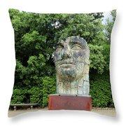 Tindaro Screpolato Sculpture In Boboli Garden 0197 Throw Pillow