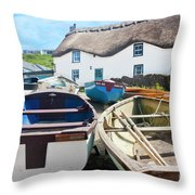 Tinker Taylor Cottage Sennen Cove Cornwall Throw Pillow