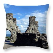Tintagel Castle 2 Throw Pillow
