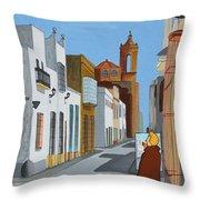 Tintin En Puerto Real Throw Pillow