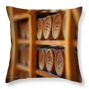 Tiny Barrels Throw Pillow