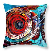 Tiny Blue Pill Throw Pillow