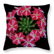 Tiny Bunch Of Red And Pink Flowers Throw Pillow