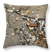 Tiny Crab Shells Throw Pillow