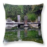 Tiny Dock Throw Pillow