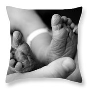 Tiny Feet Throw Pillow