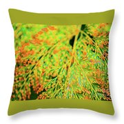 Tiny Flowers Blooming  Throw Pillow