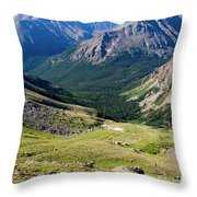 Tiny Hikers On The Mount Massive Summit Throw Pillow