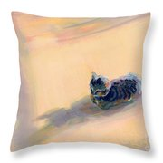 Tiny Kitten Big Dreams Throw Pillow