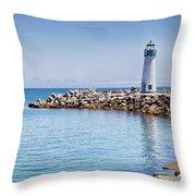 Tiny Lighthouse Throw Pillow