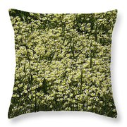 Tiny Meadow Flowers Throw Pillow