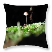 Tiny Mushroom 1 Throw Pillow