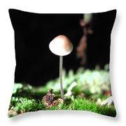 Tiny Mushroom 2 Throw Pillow