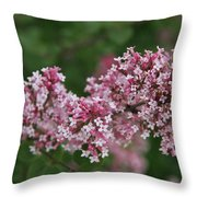 Tiny Pink Flowers Throw Pillow