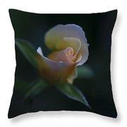 Tiny Pink Rosebud Throw Pillow