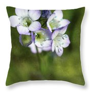 Tiny Purple And Blue Throw Pillow