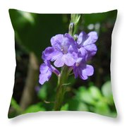 Tiny Purple Blooms Throw Pillow