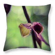 Tiny Purple Flower Throw Pillow