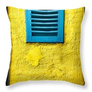 Tiny Window With Closed Shutter Throw Pillow