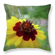 Tiny Yellow Flower Throw Pillow