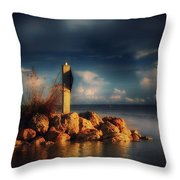 Tip Of The Island Throw Pillow