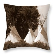 Tipis In Toppenish Throw Pillow