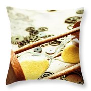 Tipping The Time Map Throw Pillow