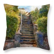 Tipsy Stairs Throw Pillow
