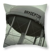 Tipsy Water Tower Throw Pillow