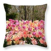 Tiptoe Among The Tulips Throw Pillow