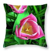 Tiptoe Through The Tulips Throw Pillow