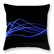 Tire Luminous Tread And Glowing Wake Throw Pillow