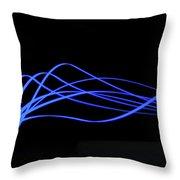Tire Luminous Tread And Glowing Wake Throw Pillow