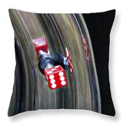 Tire Valve Stem With Red Die Throw Pillow