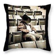 Tired Buckaroo Throw Pillow