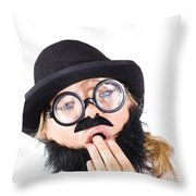 Tired Businessperson Throw Pillow