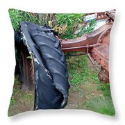 Tired Tractor Tire Throw Pillow