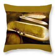 Tired Tubs Throw Pillow