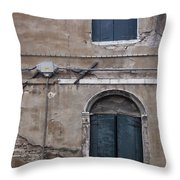 Tired Walls Throw Pillow