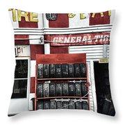 Tires And Battery Throw Pillow