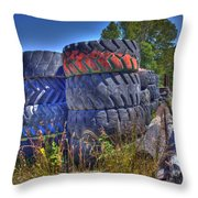 Tires Throw Pillow by Lawrence Christopher