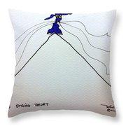Tis String Theory Throw Pillow