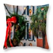 Tis The Season - Charleston Sc Throw Pillow