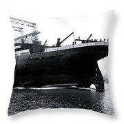 Titanic Being Launched Throw Pillow