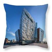 Titanic Building Bows Throw Pillow