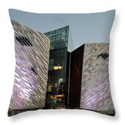 Titanic Museum Belfast. Throw Pillow
