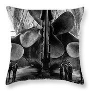 Titanic Propellers Throw Pillow
