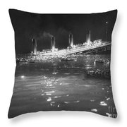 Titanic: Re-creation, 1912 Throw Pillow by Granger