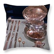 Titanic Silvers Throw Pillow