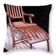 Titanic Teak Lounge Throw Pillow